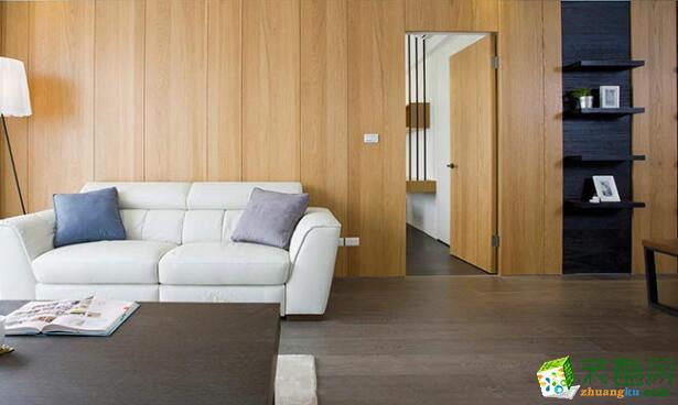 客厅 客厅隐形门效果图 昆明莱阁装饰-100平现代二居室