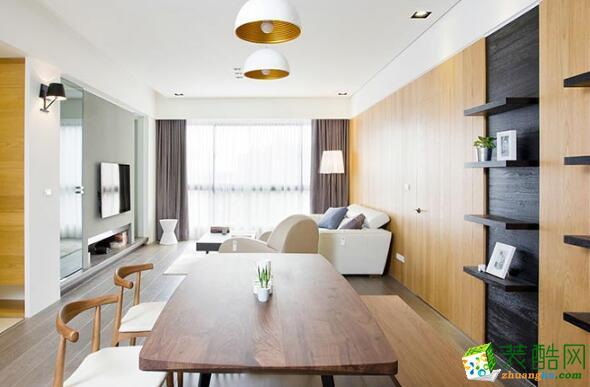 餐厅 餐厅效果图 昆明莱阁装饰-100平现代二居室