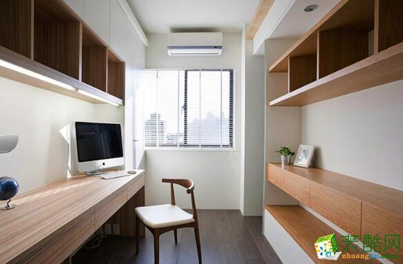 书房 明亮的书房效果图 昆明莱阁装饰-100平现代二居室