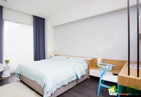 卧室 次卧效果图 昆明莱阁装饰-100平现代二居室