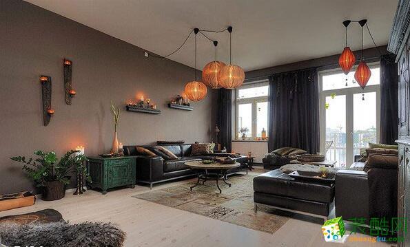 客厅 客厅整体效果图 昆仑装饰-145平新古典风格公寓
