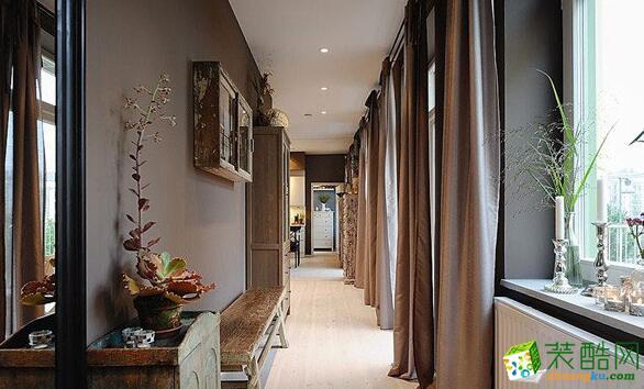 过道吊顶 过道效果图 昆仑装饰-145平新古典风格公寓