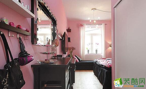 卧室 粉色系卧室效果图 昆仑装饰-145平新古典风格公寓