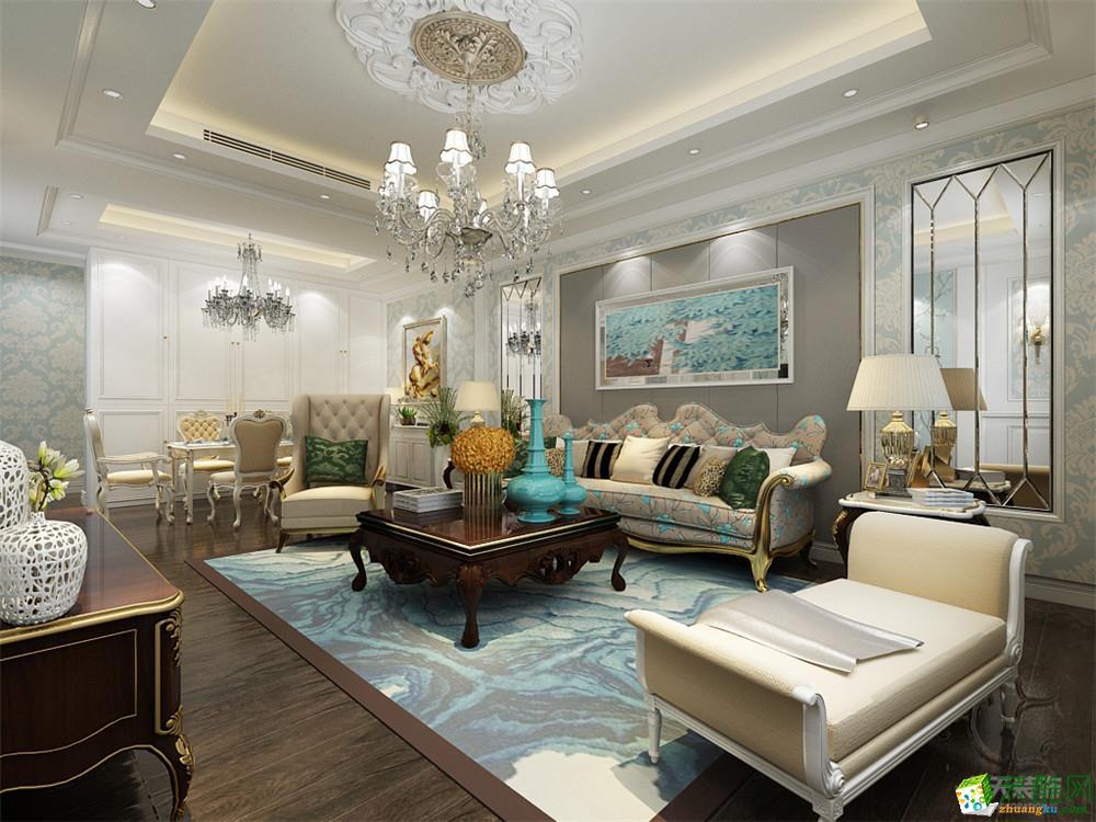 【力天装饰】团泊湖鸿雁岛-143㎡-欧式风格_欧式风格-四室两厅两卫