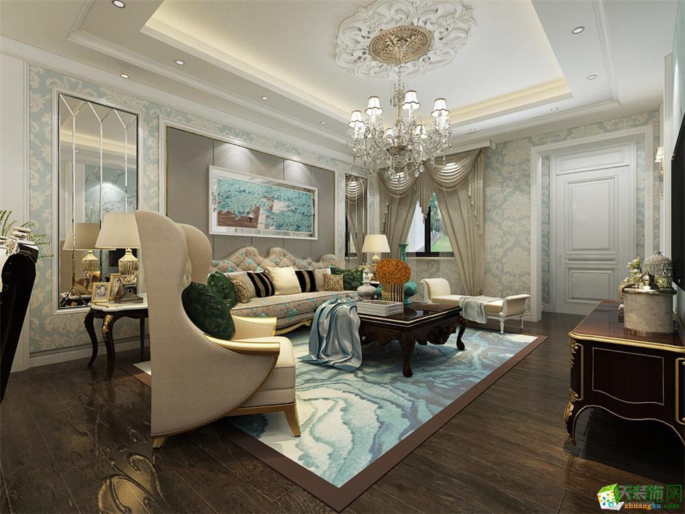 客厅  【力天装饰】团泊湖鸿雁岛-143㎡-欧式风格